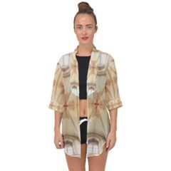 Wells Cathedral Wells Cathedral Open Front Chiffon Kimono by Celenk