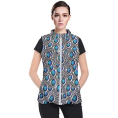 Peacock Pattern Close Up Plumage Women s Puffer Vest by Celenk
