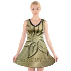 You Are My Star V Neck Sleeveless Dress by NSGLOBALDESIGNS2