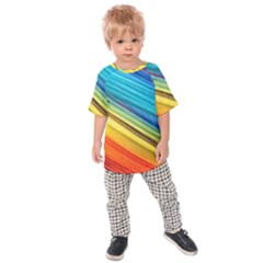 Rainbow Kids Raglan Tee by NSGLOBALDESIGNS2