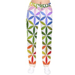 Mandala Rainbow Colorful Reiki Velvet Drawstring Pants