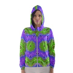 Abstract Art Colorful Hooded Windbreaker (women) by Simbadda