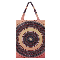 Ornamental Shape Concentric Round Classic Tote Bag