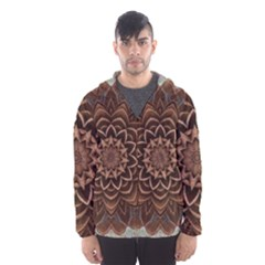Abstract Art Texture Mandala Hooded Windbreaker (men) by Simbadda