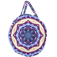 Mandala Art Design Pattern Giant Round Zipper Tote