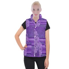 Background Mandala Purple Ribbon Women s Button Up Vest by Simbadda