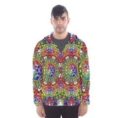 Mandala Pattern Ornaments Structure Hooded Windbreaker (men) by Simbadda