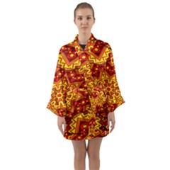 Kaleidoscope Mandala Recreation Long Sleeve Kimono Robe by Simbadda