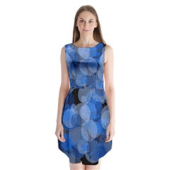 Circle Rings Abstract Optics Sleeveless Chiffon Dress   by Simbadda