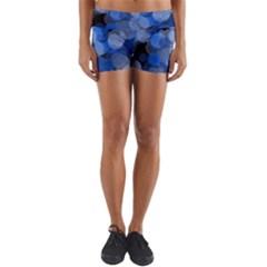 Circle Rings Abstract Optics Lightweight Velour Yoga Shorts by Simbadda