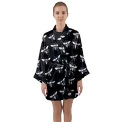 Pop Art  Bee Pattern Long Sleeve Kimono Robe