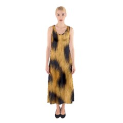 Animal Print Leopard Sleeveless Maxi Dress by NSGLOBALDESIGNS2