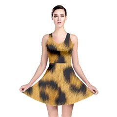 Animal Print Leopard Reversible Skater Dress by NSGLOBALDESIGNS2