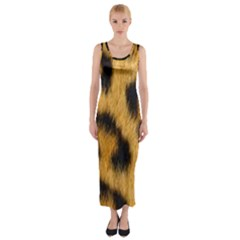 Animal Print Leopard Fitted Maxi Dress by NSGLOBALDESIGNS2