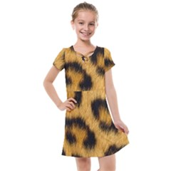 Animal Print Leopard Kids  Cross Web Dress by NSGLOBALDESIGNS2