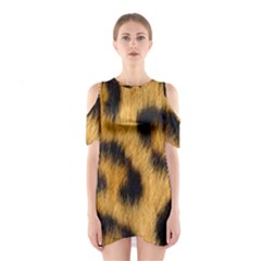 Animal Print Leopard Shoulder Cutout One Piece Dress by NSGLOBALDESIGNS2