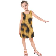 Animal Print 3 Kids  Sleeveless Dress by NSGLOBALDESIGNS2
