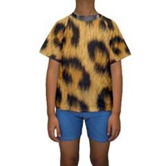 Animal Print 3 Kids  Short Sleeve Swimwear by NSGLOBALDESIGNS2