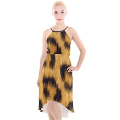 Animal Print 3 High Low Halter Chiffon Dress  by NSGLOBALDESIGNS2