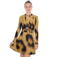 Leopard Print Long Sleeve Panel Dress by NSGLOBALDESIGNS2