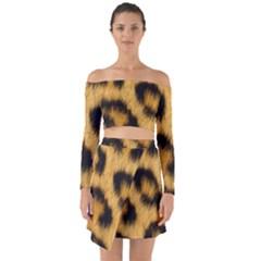 Leopard Print Off Shoulder Top With Skirt Set by NSGLOBALDESIGNS2