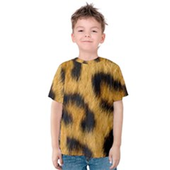 Leopard Print Kids  Cotton Tee by NSGLOBALDESIGNS2