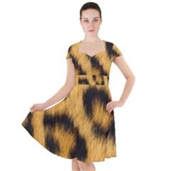 Leopard Print Cap Sleeve Midi Dress by NSGLOBALDESIGNS2