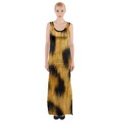 Leopard Print Maxi Thigh Split Dress by NSGLOBALDESIGNS2