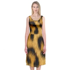 Leopard Print Midi Sleeveless Dress by NSGLOBALDESIGNS2