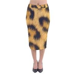 Leopard Print Velvet Midi Pencil Skirt by NSGLOBALDESIGNS2