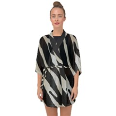 Zebra Print Half Sleeve Chiffon Kimono by NSGLOBALDESIGNS2