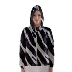 Zebra Print Hooded Windbreaker (women) by NSGLOBALDESIGNS2