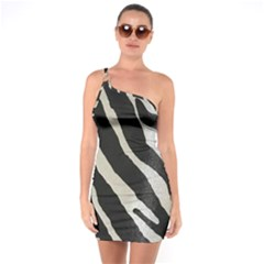 Zebra Print One Soulder Bodycon Dress by NSGLOBALDESIGNS2