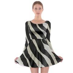 Zebra Print Long Sleeve Skater Dress by NSGLOBALDESIGNS2