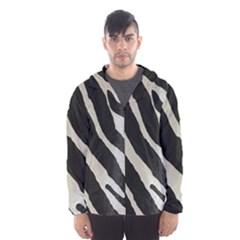 Zebra Print Hooded Windbreaker (men) by NSGLOBALDESIGNS2