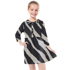 Zebra Print Kids  Quarter Sleeve Shirt Dress by NSGLOBALDESIGNS2