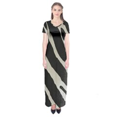 Zebra Print Short Sleeve Maxi Dress by NSGLOBALDESIGNS2