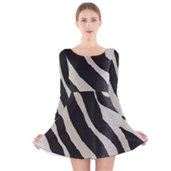 Zebra 2 Print Long Sleeve Velvet Skater Dress by NSGLOBALDESIGNS2