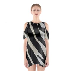 Zebra 2 Print Shoulder Cutout One Piece Dress by NSGLOBALDESIGNS2