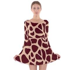 Gulf Lrint Long Sleeve Velvet Skater Dress by NSGLOBALDESIGNS2