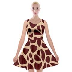 Gulf Lrint Velvet Skater Dress by NSGLOBALDESIGNS2