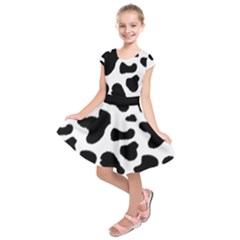 Cheetah Print Kids  Short Sleeve Dress by NSGLOBALDESIGNS2