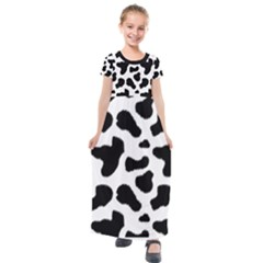 Cheetah Print Kids  Short Sleeve Maxi Dress by NSGLOBALDESIGNS2
