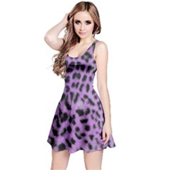 Purple Leopard Print Reversible Sleeveless Dress by chihuahuadresses