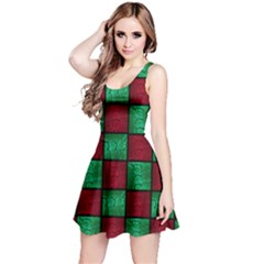Snake Check Reversible Sleeveless Dress by chihuahuadresses
