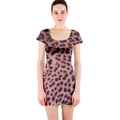 Pink Leopard Print Short Sleeve Bodycon Dress by chihuahuadresses