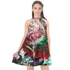 Dedelion Halter Neckline Chiffon Dress  by bestdesignintheworld