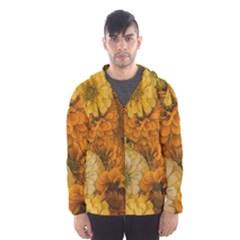 Yellow Zinnias Hooded Windbreaker (men) by bloomingvinedesign