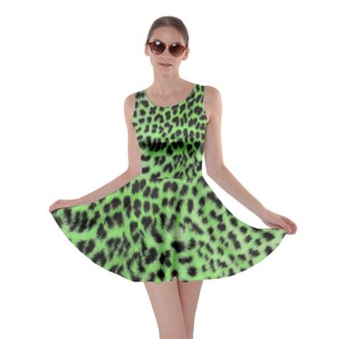 Bright Leopard Print Skater Dress