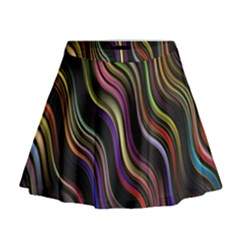 Psychedelic Background Wallpaper Mini Flare Skirt